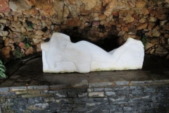 Statue in grotto